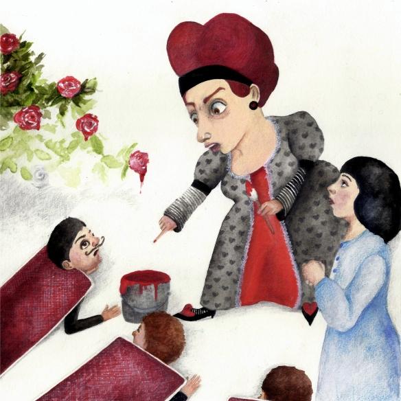 alicia y la reina de corazones